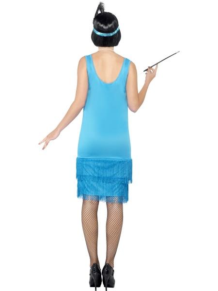 5d6f4171a6e8 Součástí tohoto krásného kostýmu ala 20.léta jsou blýskavé modré šaty a  modrá čelenka. V případě zájmu si u nás v půjčovně můžete zakoupit ke  kostýmu ...